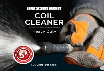 Hussmann Coil Cleaner Label