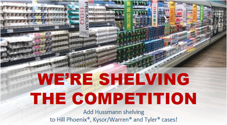 Hussmann Shelving For Leading Refrigeration Cases